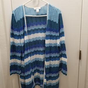 Christopher & Banks Blues white Cardigan Sweater